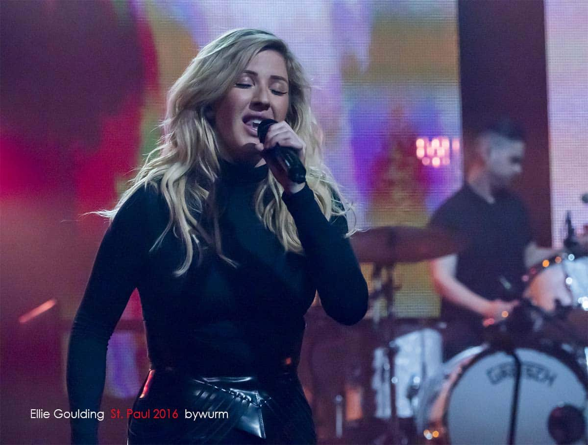 ellie goulding performance photography by wurm